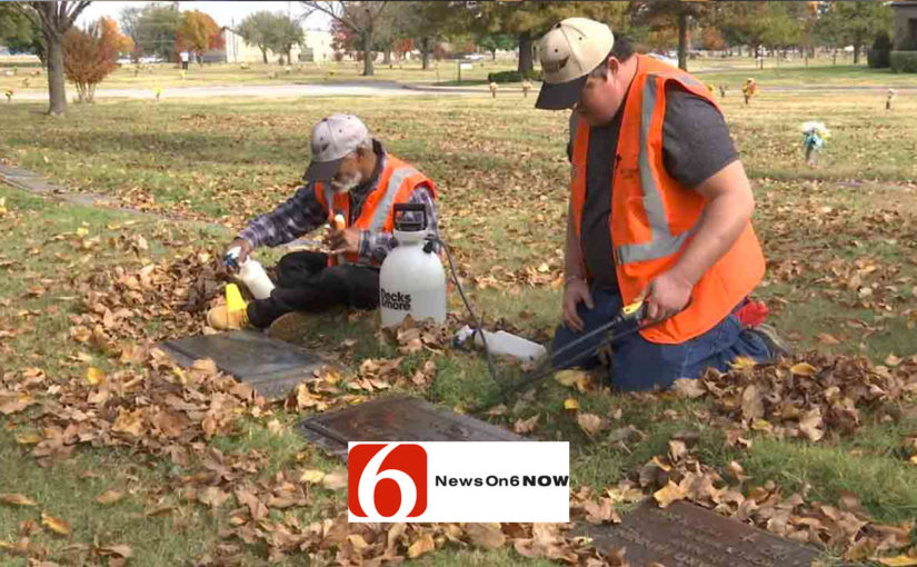 Non-Profit Cleaning Veterans' Headstones In Tulsa Cemetery – NewOn6