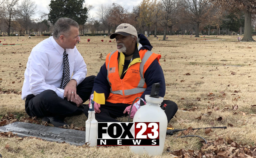 Clay Loney with Fox 23 Tulsa covers the Shining Honor Project
