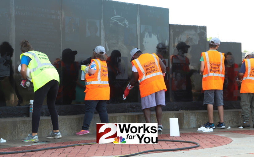 Shining Honor Project cleans Women's War Memorial Wall – Channel 2