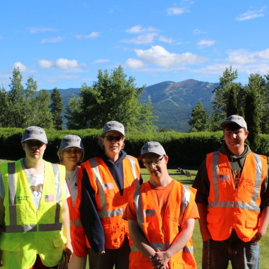 Lighthouse Christian Home and Services clients for the Shining Honor Project in Montana