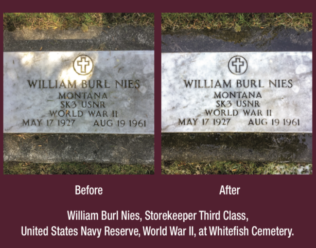 Headstone Before and After